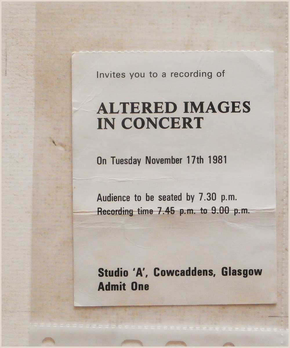 Altered Images - Tuesday 17 November 1981, Studio A, Cowcaddens, Glasgow (P6050280)