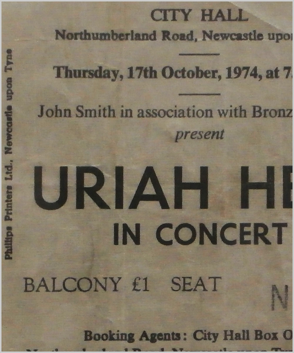Uriah Heep - Thursday 17 October 1974, City Hall, Newcastle-upon-Tyne (P6050286)