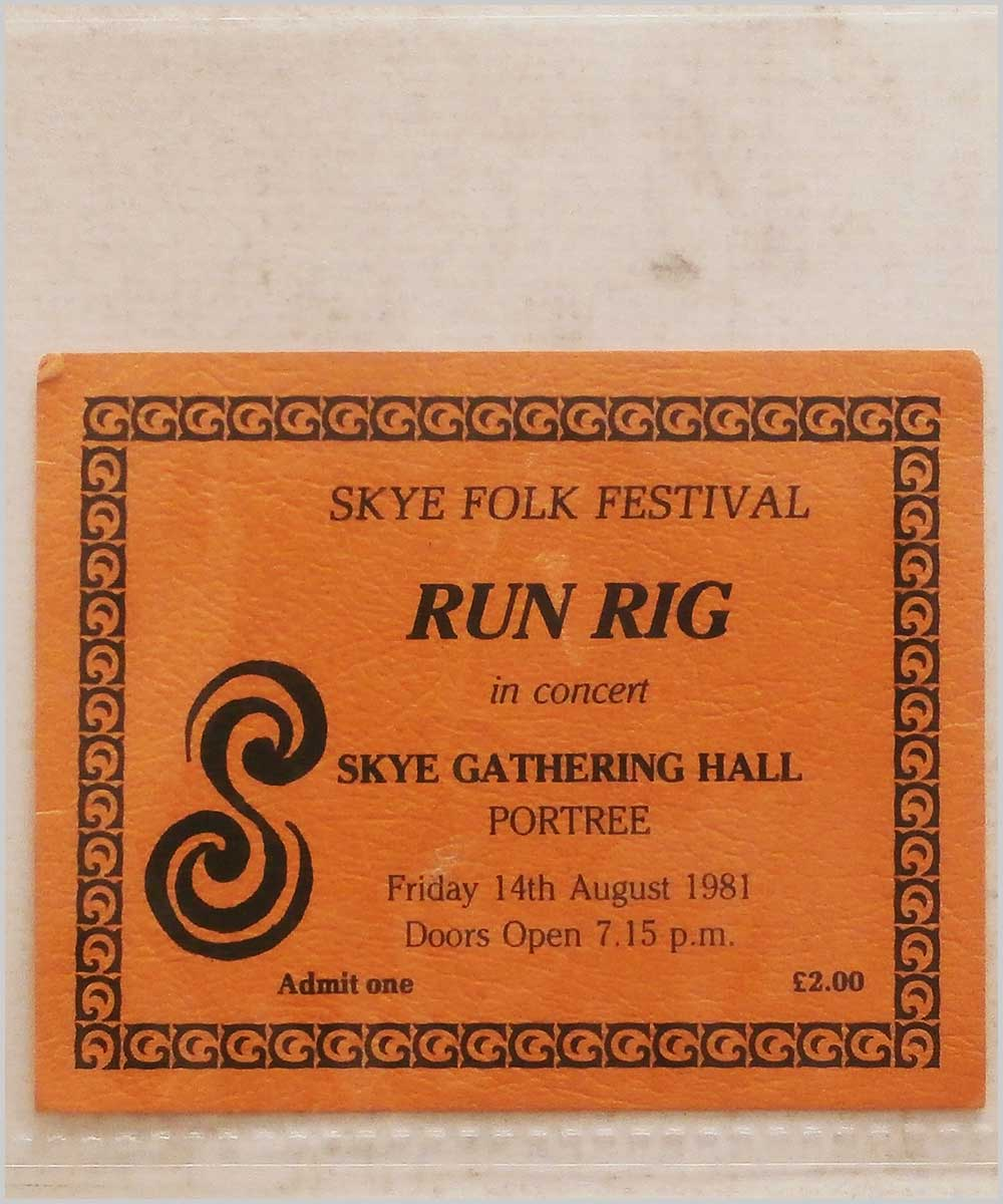 Run Rig - Friday 14 August 1981, Skye Folk Festival, Skye Gathering Hall, Portree (P6050291)
