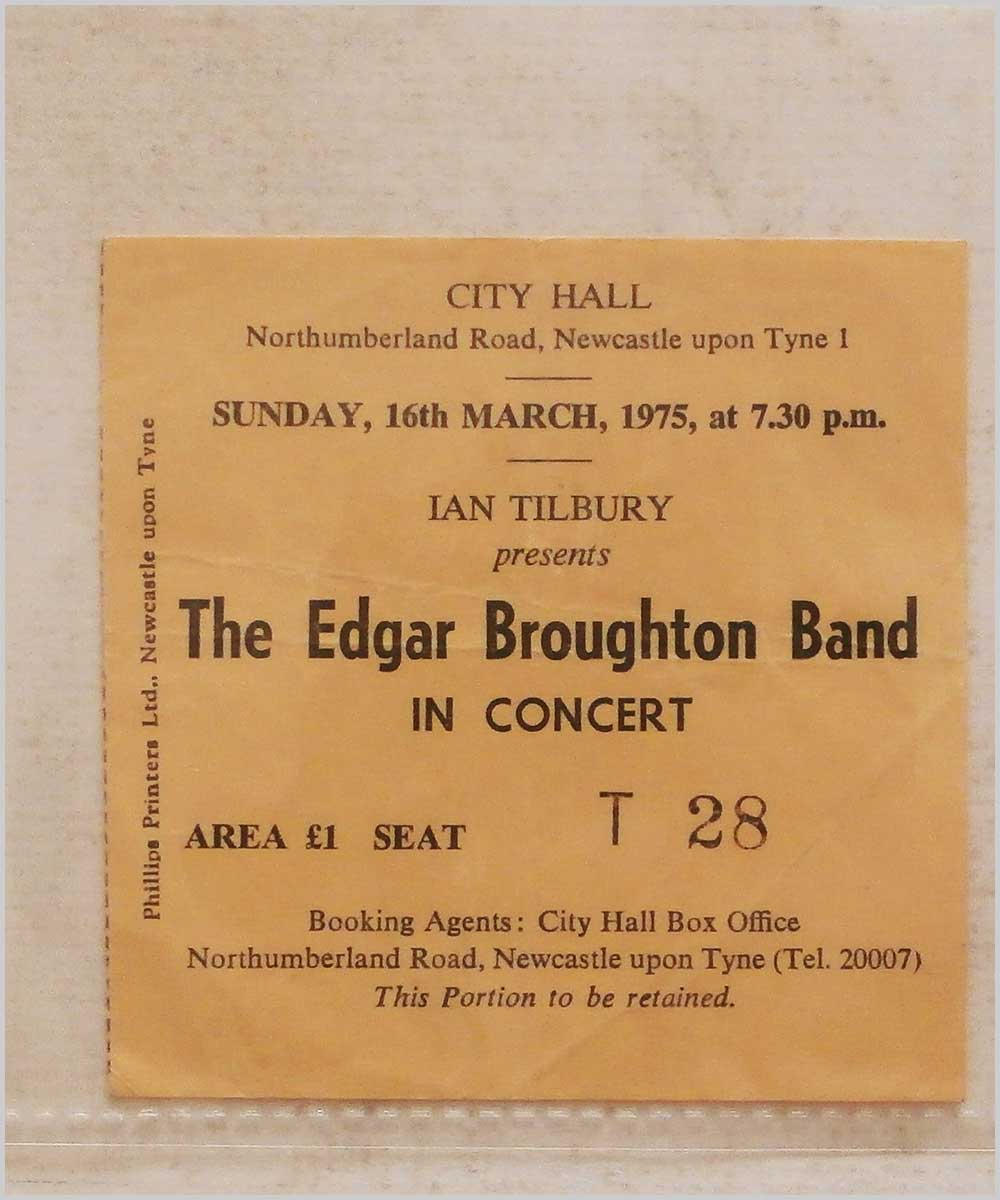 The Edgar Broughton Band - Sunday 16 March 1975, City Hall, Newcastle-upon-Tyne (P6050292)