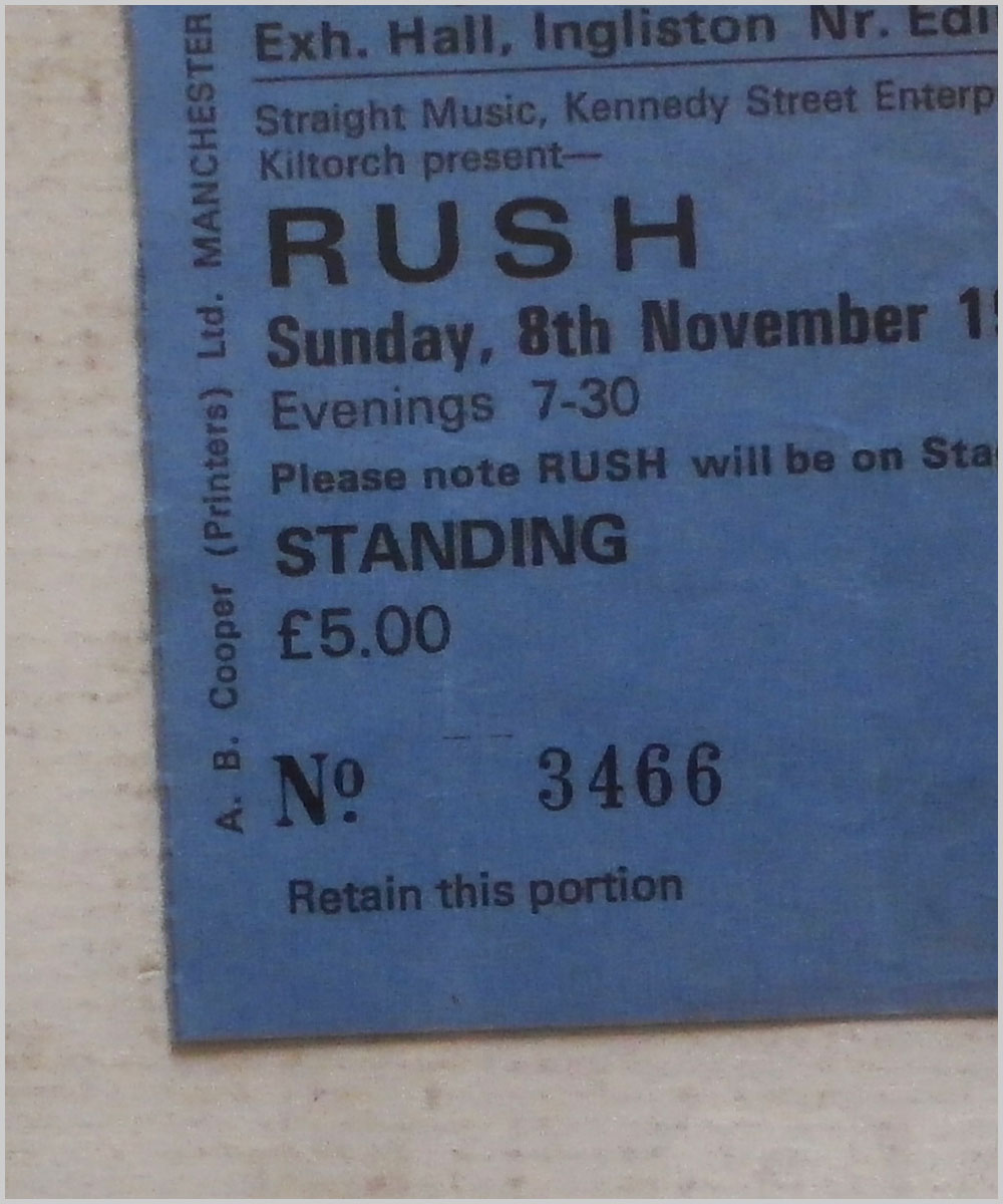 Rush - Sunday 8 November 1981, The Royal Highland Agricultural Exhibition Hall, Ingliston (P6050299)