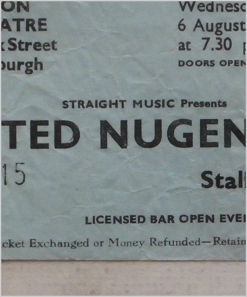 Ted Nugent - Wednesday 6 August 1980, Odeon Theatre, Edinburgh (P6050301)