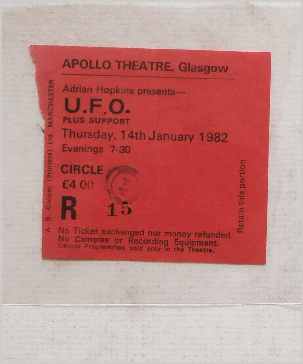 U.F.O. - Thursday 14 January 1982, Apollo Theatre Glasgow (P6050304)