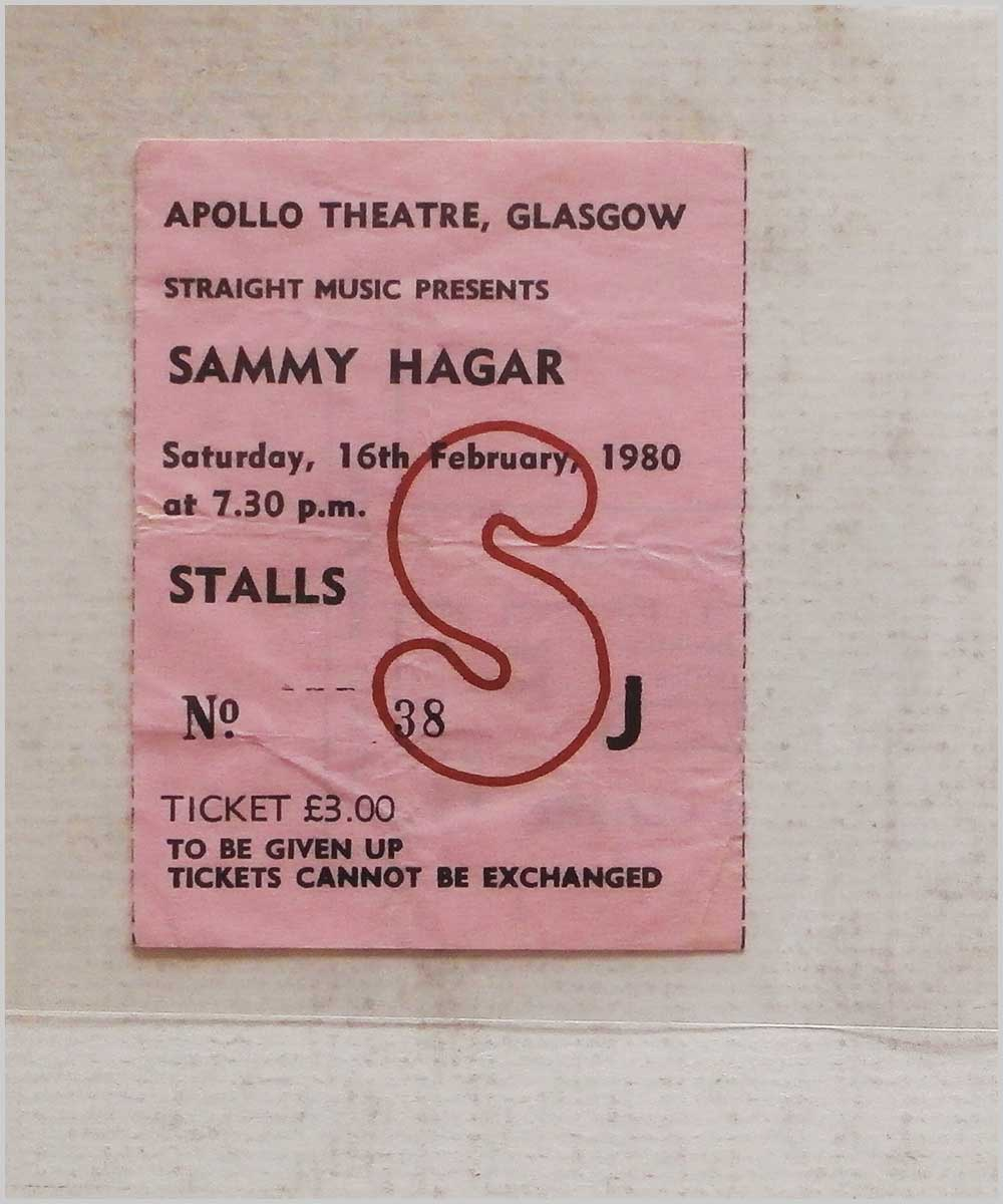 Sammy Hagar - Saturday 16 February 1980, Apollo Theatre Glasgow (P6050306)