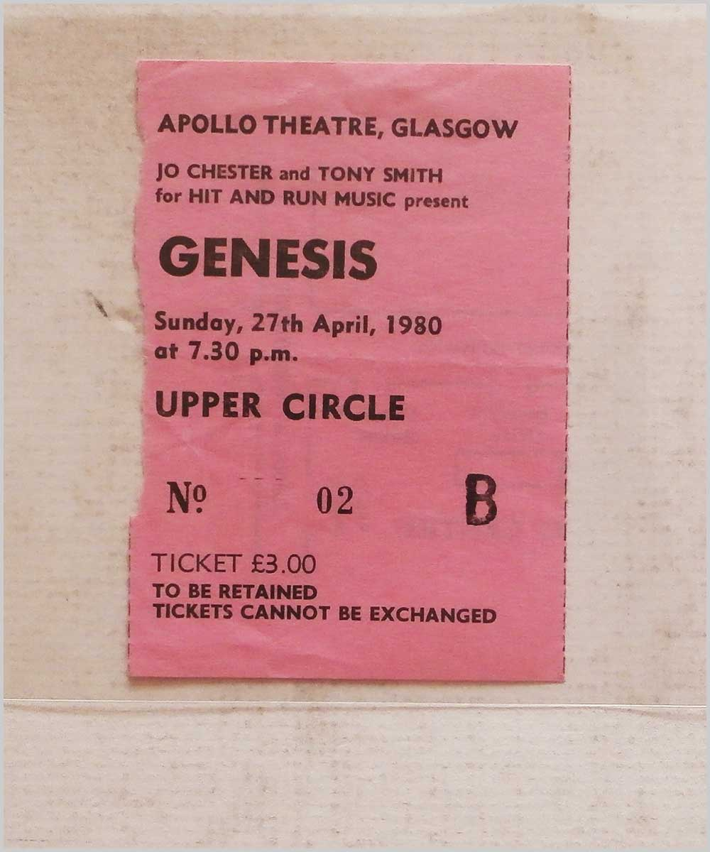 Genesis - Saturday 27 April 1980, Apollo Theatre Glasgow (P6050312)