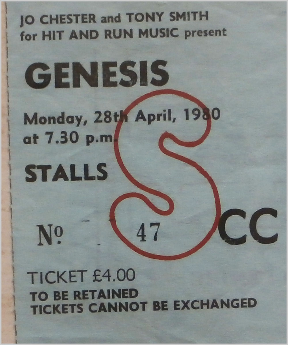 Genesis - Monday 28 April 1980, Apollo Theatre Glasgow (P6050313)