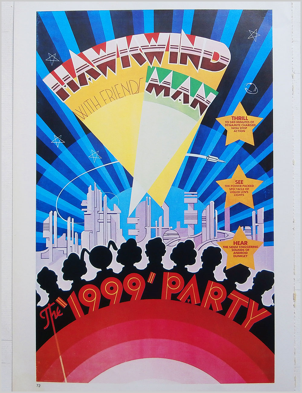 Hawkwind and Be-Bop Deluxe - Rock Poster: Hawkwind: The 1999 Party b/w Be-Bop Deluxe: Axe Victim (PB100306)
