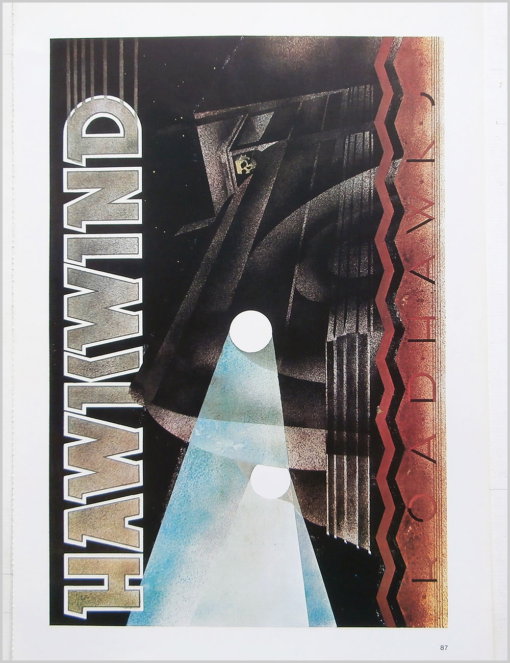 Hawkwind and Mott The Hoople - Rock Poster: Hawkwind: RoadHawks b/w Mott The Hoople: The Hoople (PB100321)