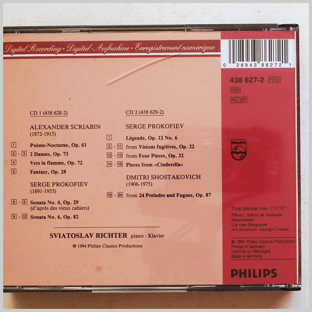 Sviatoslav Richter - Richter: The Authorised Recordings: Scriabin, Prokofiev, Shostakovich (28943862721)