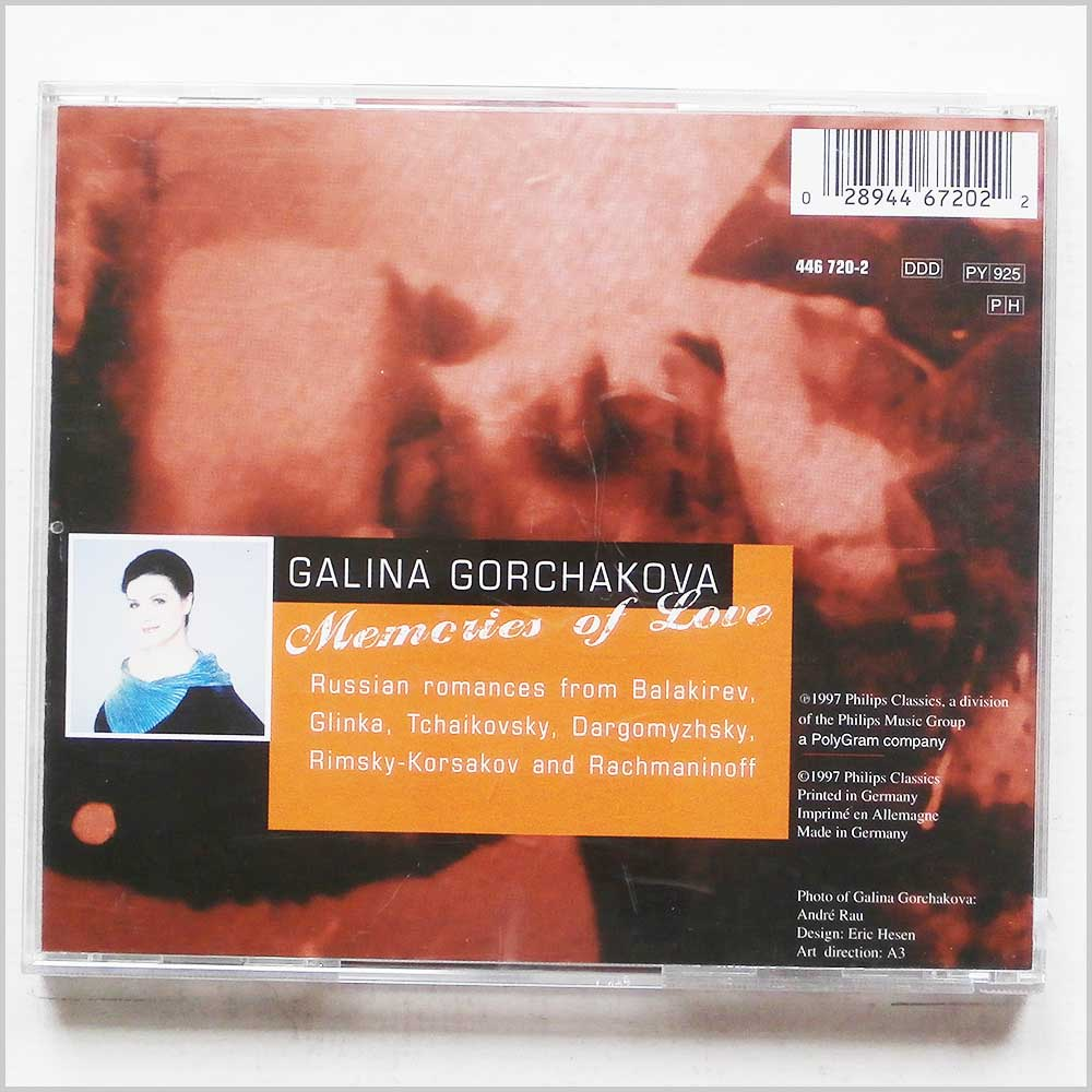 Galina Gorchakova, Larissa Gergieva - Memories of Love, Russian Romances (28944672022)