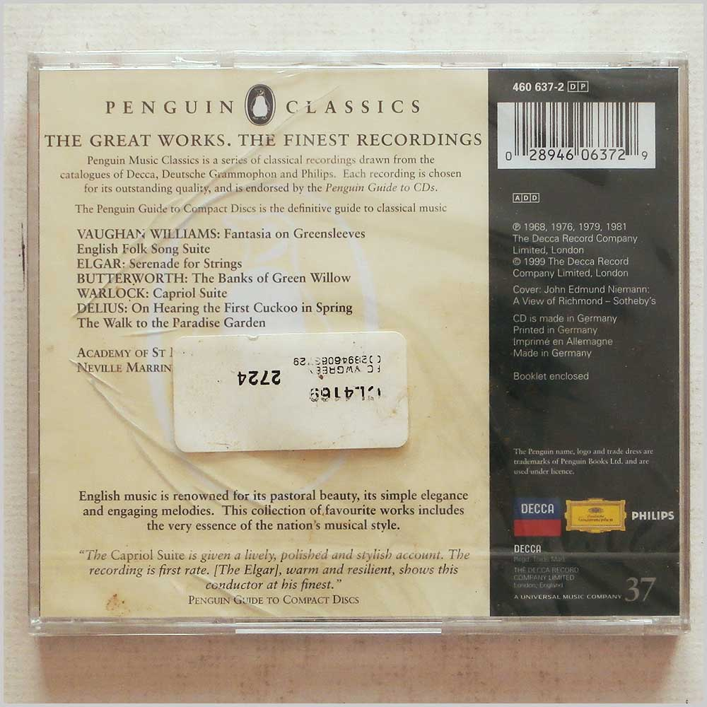 Neville Marriner, Academy of St. Martin-in-the-Fields - Greensleeves: English Classics (28946063729)