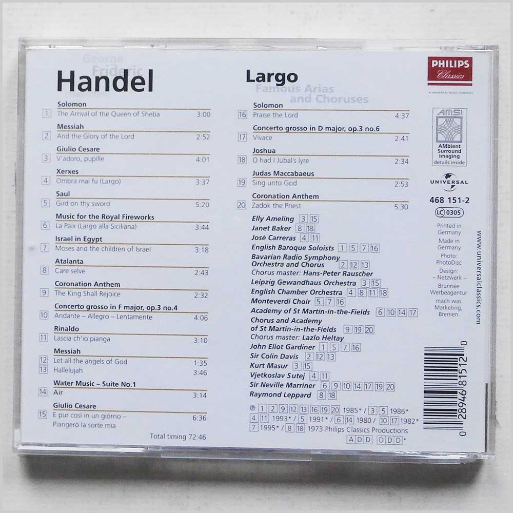 Various - George Frideric Handel: Largo, Famous Arias and Choruses (28946815120)