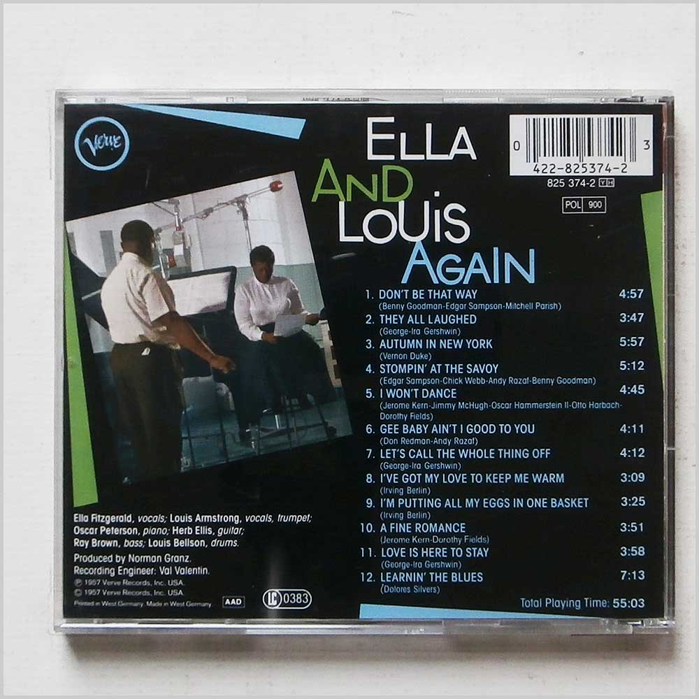 Ella Fitzgerald and Louis Armstrong - Ella And Louis Again (42282537423)