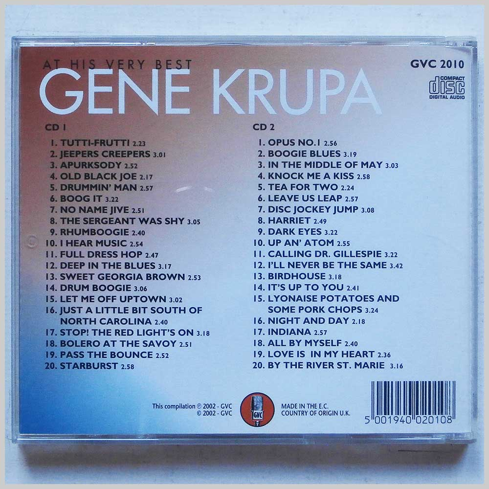 Gene Krupa and His Orchestra - At His Very Best (5001940020108)