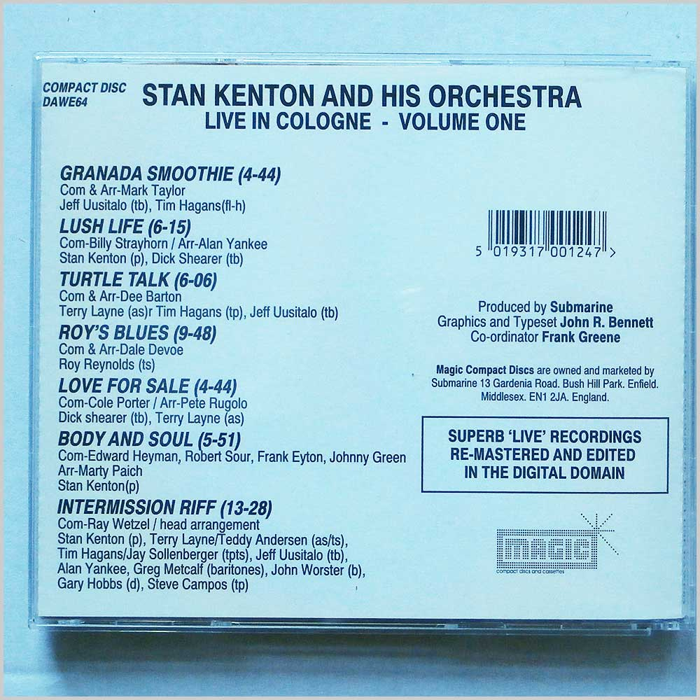 Stan Kenton - Stan Kenton And His Orchestra Live in Cologne '76 Part One (5019317001247)