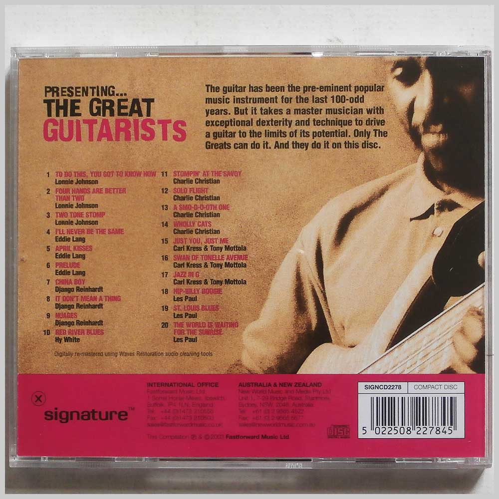 Various - Presenting The Great Guitarists (5022508227845)