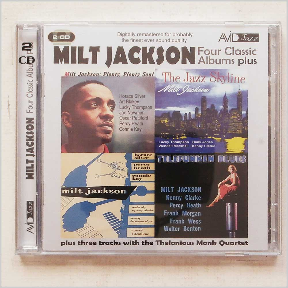 Milt Jackson - Four Classic Albums Plus: The Jazz Skyline, Milt Jackson Quartet, Telefunken Blues, Plenty Plenty Soul (5022810197928)