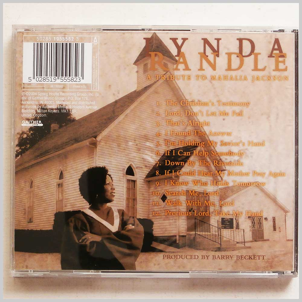 Lynda Randle - Tribute To Mahalia Jackson (5028519555823)