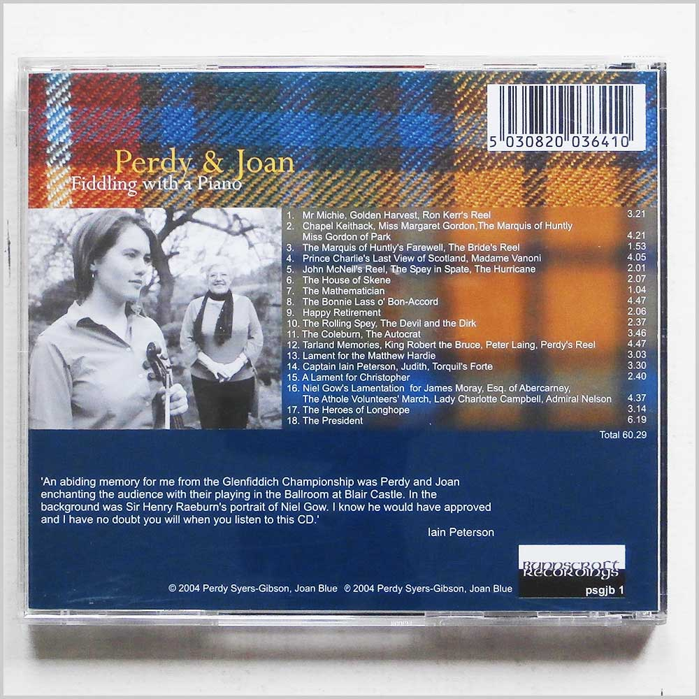 Perdy Syers-Gibson, Joan Blue - Fiddling With A Piano (5030820036410)