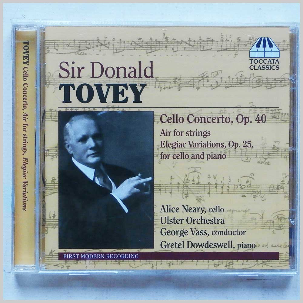 Ulster Orchestra, Alice Neary - Donald Tovey: Cello Concerto Op.40. Air For Strings, Elegiac Variations Op.25 (5060113440389)