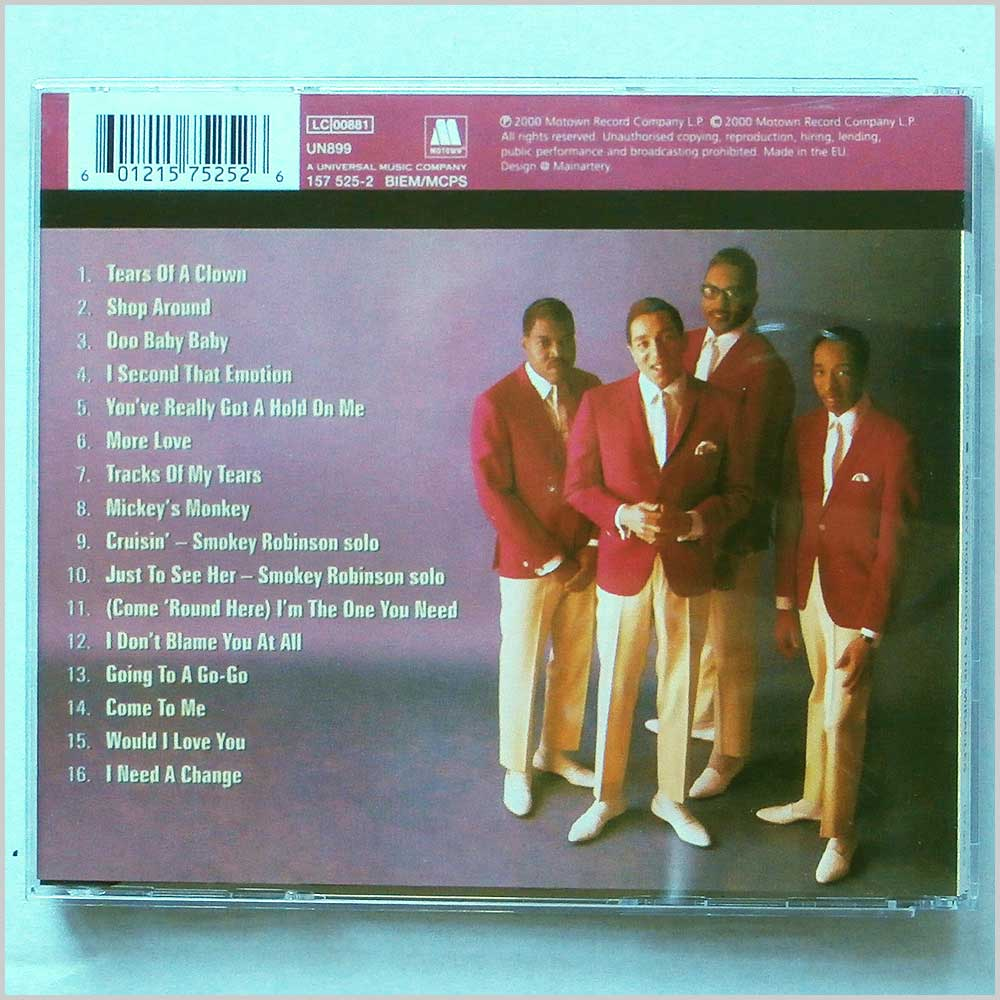 Smokey Robinson and The Miracles - Universal Masters Collection (601215752526)