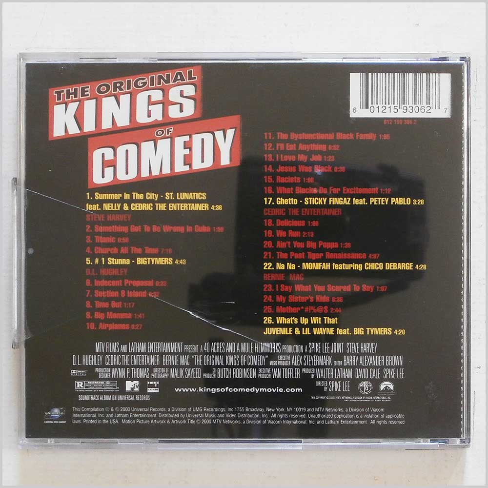Various - The Original Kings of Comedy: Original Soundtrack (601215930627)
