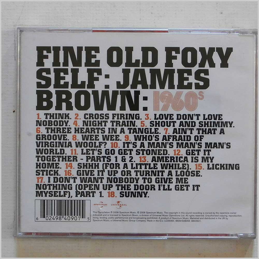 James Brown - 1960s: Fine Old Foxy Self (602498409015)