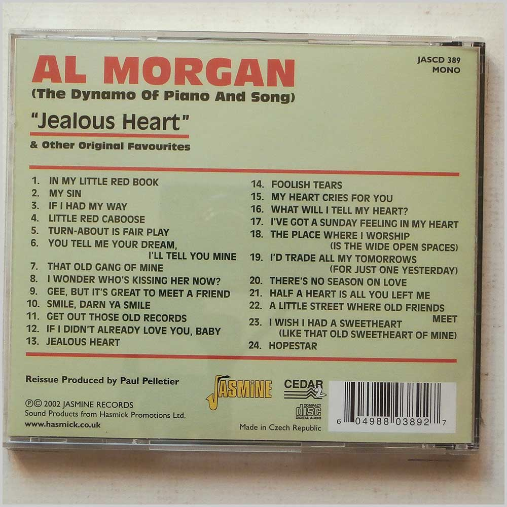 Al Morgan - Jealous Heart and Other Original Favourites (604988038927)