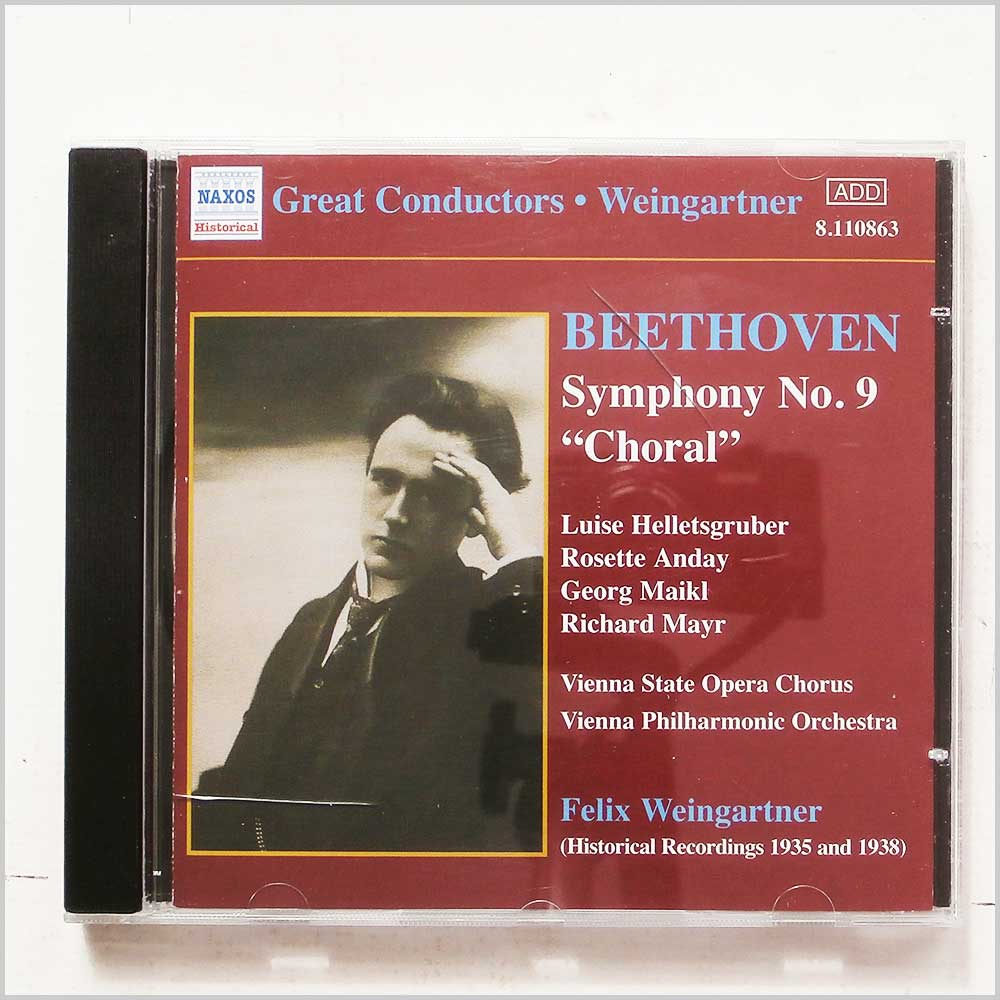 Felix Weingartner, Vienna Philharmonic Orchestra - Ludwig van Beethoven: Symphony No 9 Choral (636943186329)
