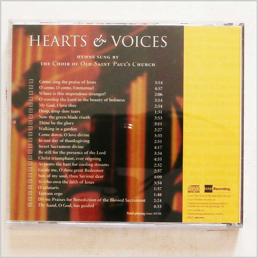 The Choir of Old Saint Paul's Church - Hearts and Voices (689279421343)