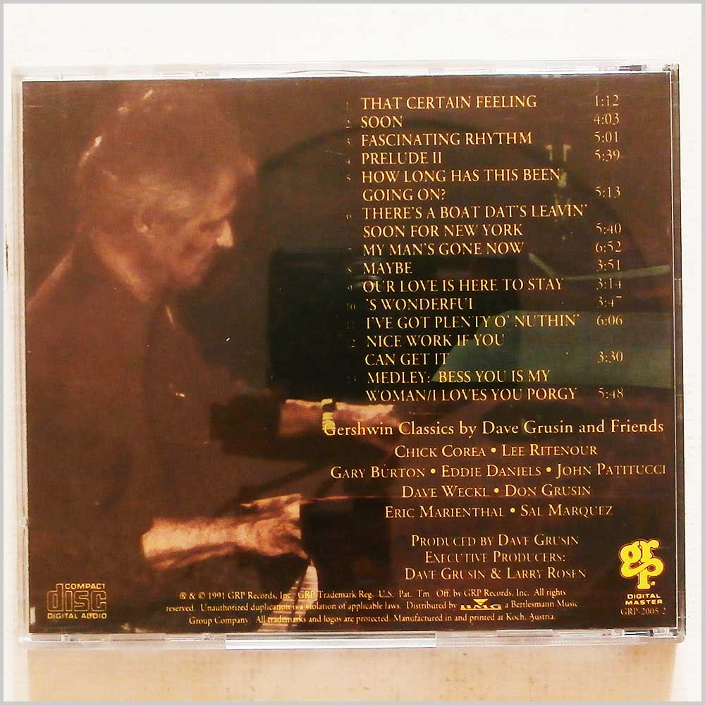Dave Grusin - The Gershwin Connection (689279424184)