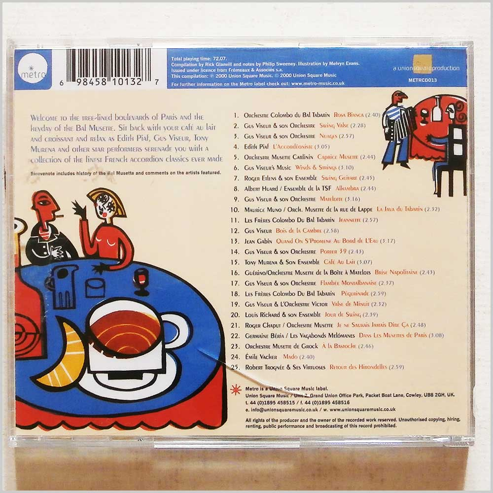 Various - Cafe Parisien: Chansons, Accordeons, Croissants: 25 Original French Accordion Songs (698458101327)
