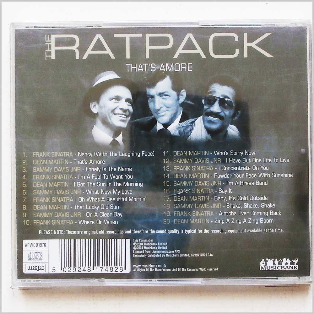 Various - The Ratpack That's Amore (704335244374)