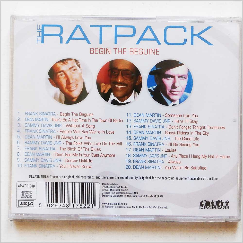 Various - The Ratpack Begin The Beguine (704335244442)