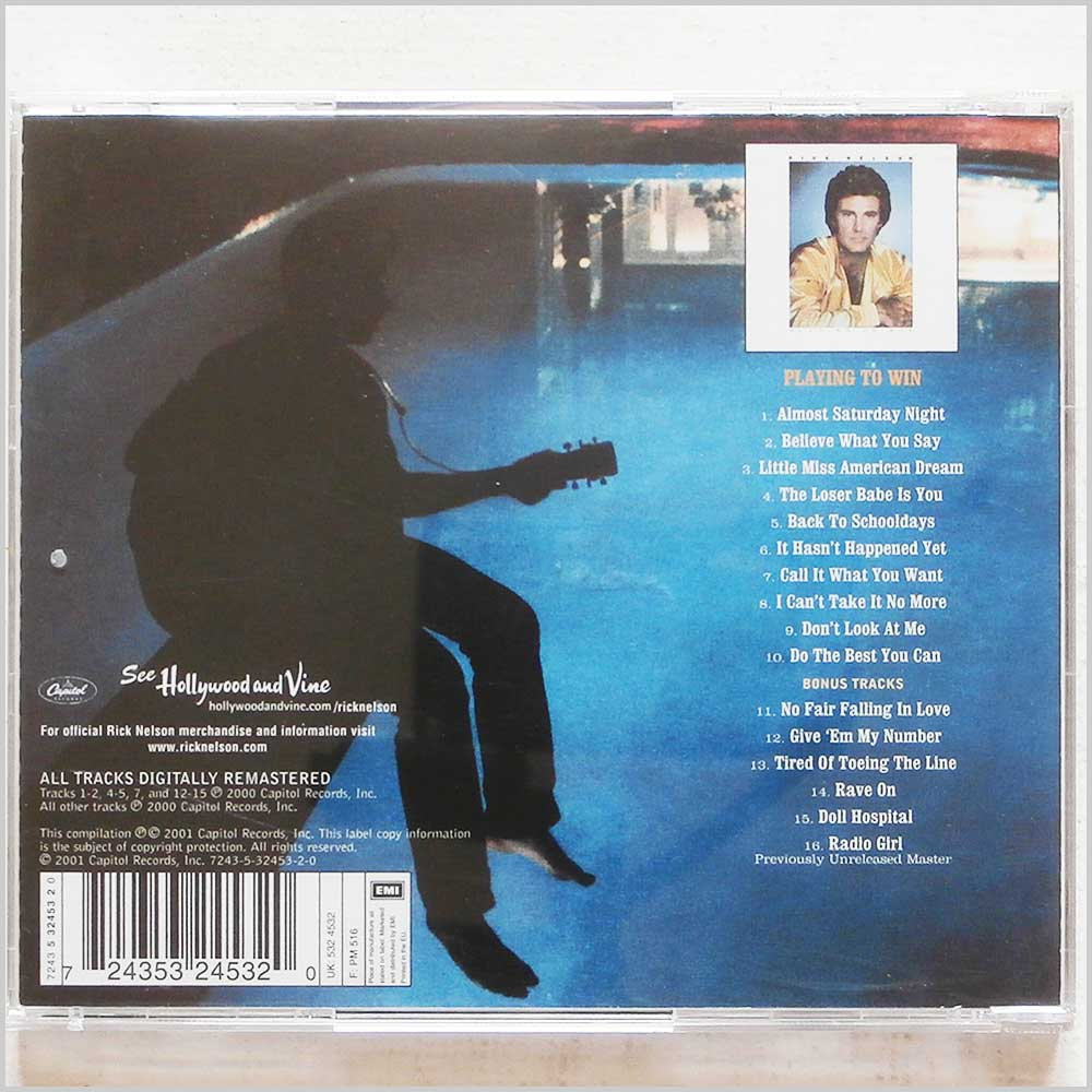 Ricky Nelson - Playing to Win (724353245320)