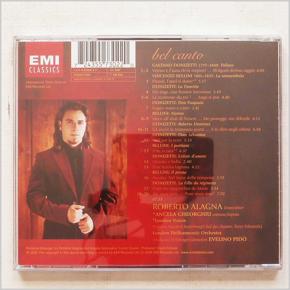 Roberto Alagna, London Philharmonic Orchestra - Bel Canto Arias (724355730220)