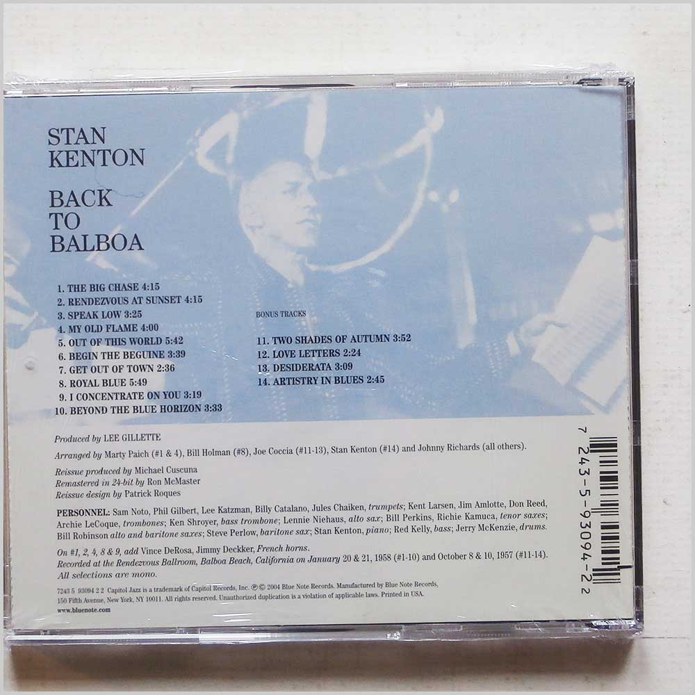 Stan Kenton - Back to Balboa (724359309422)