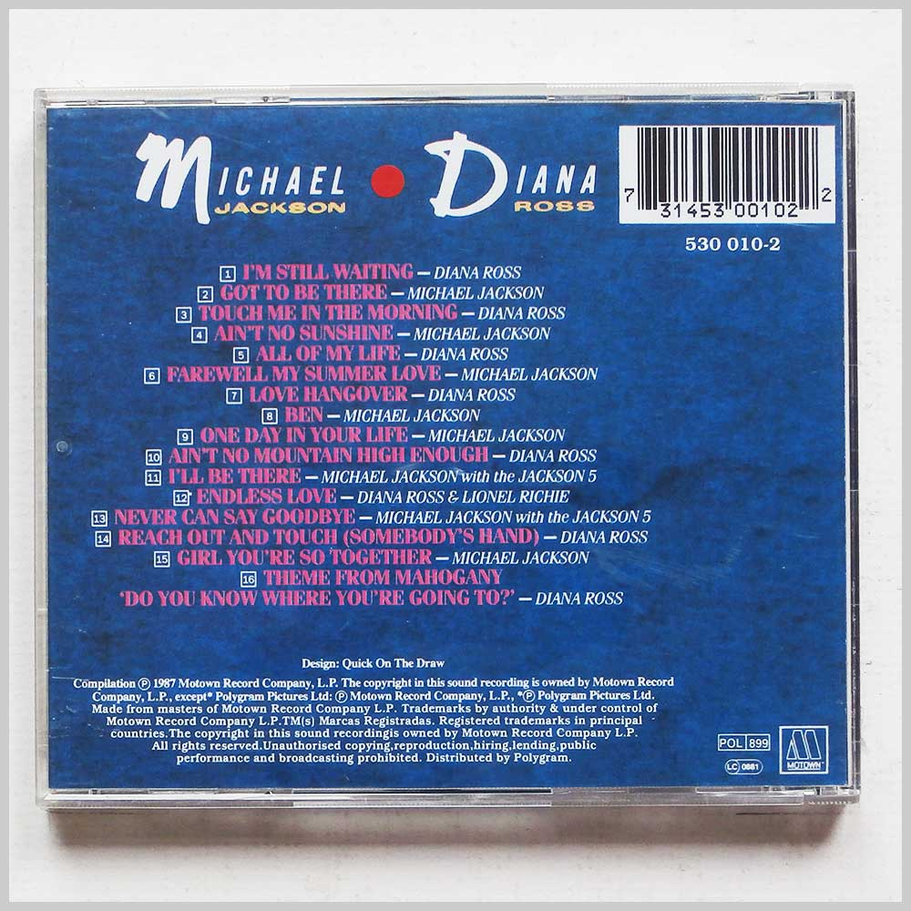 Michael Jackson, Diana Ross - Love Songs (731453001022)