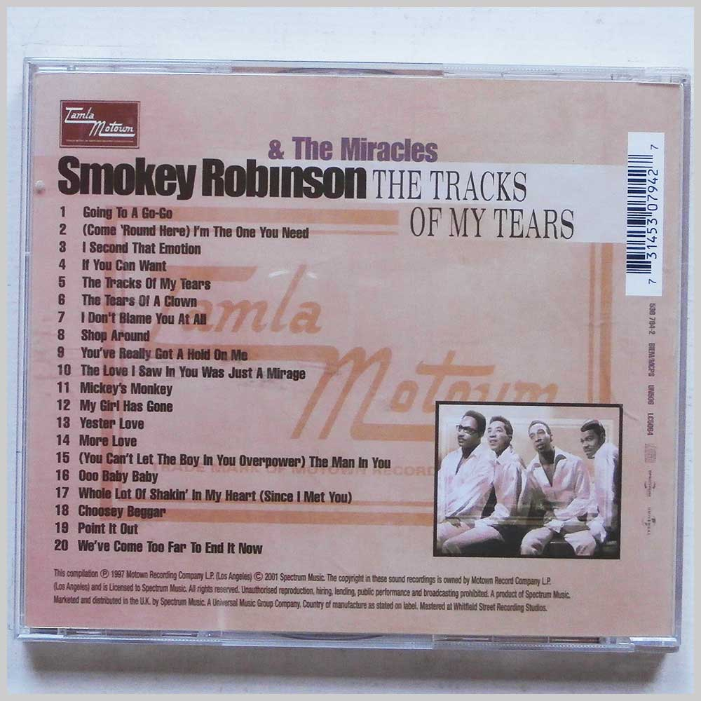 Smokey Robinson and The Miracles - The Tracks Of My Tears (731453079427)