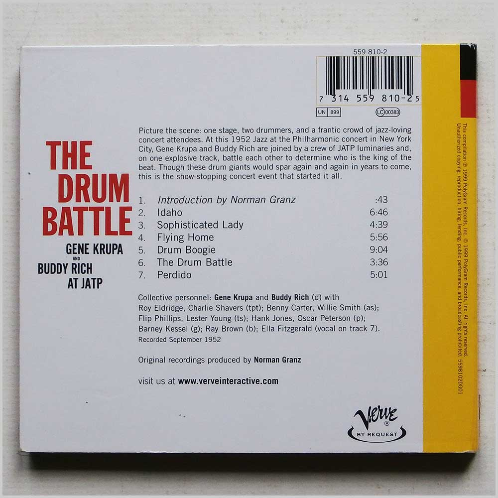 Gene Krupa and Buddy Rich - The Drum Battle at JATP (731455981025)