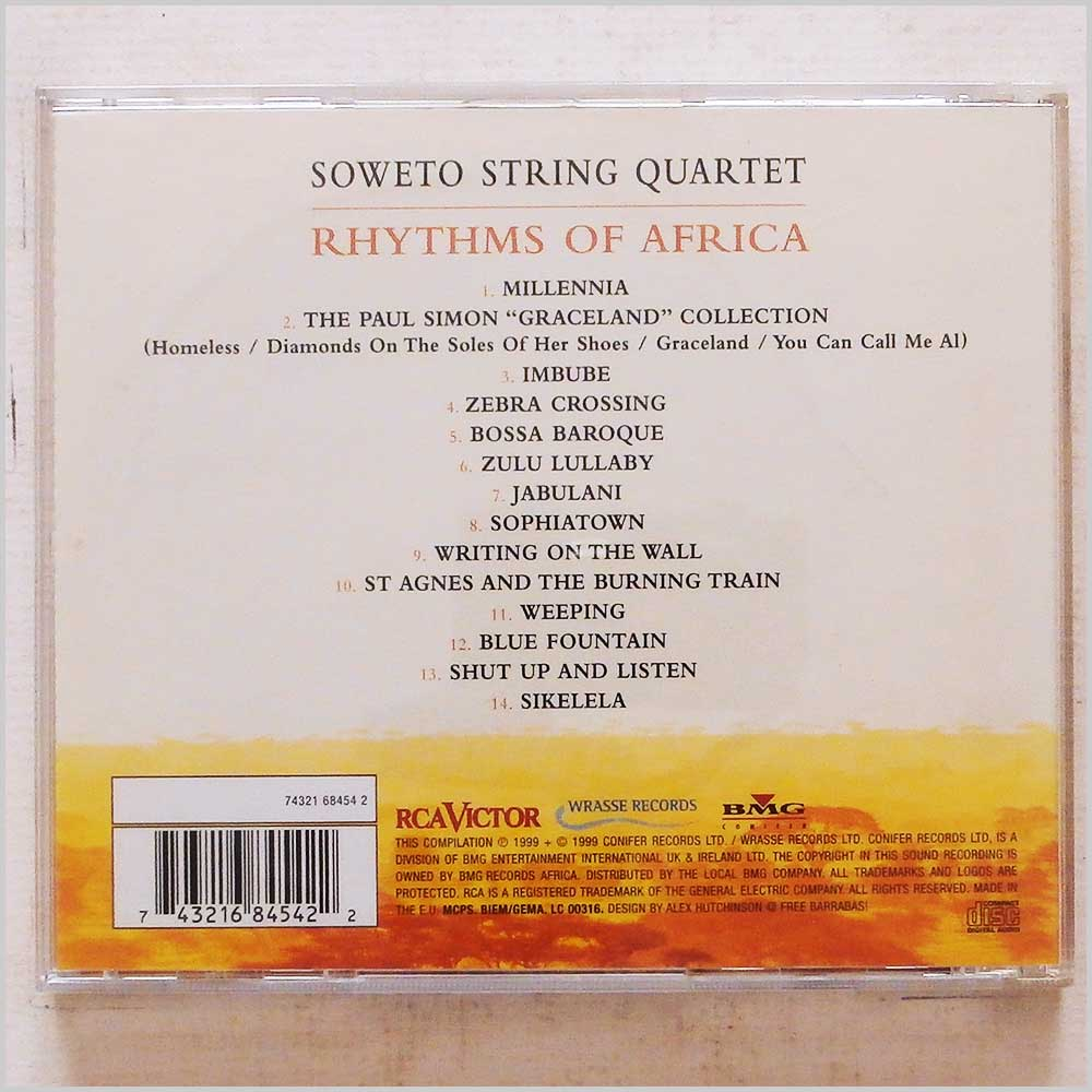 Soweto String Quartet - Rhythms Of Africa (743216845422)