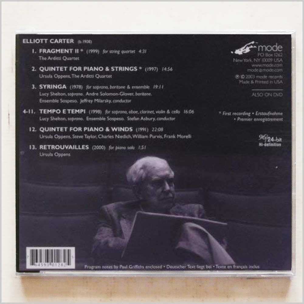 Elliott Carter - Quintets and Voices (764593012825)