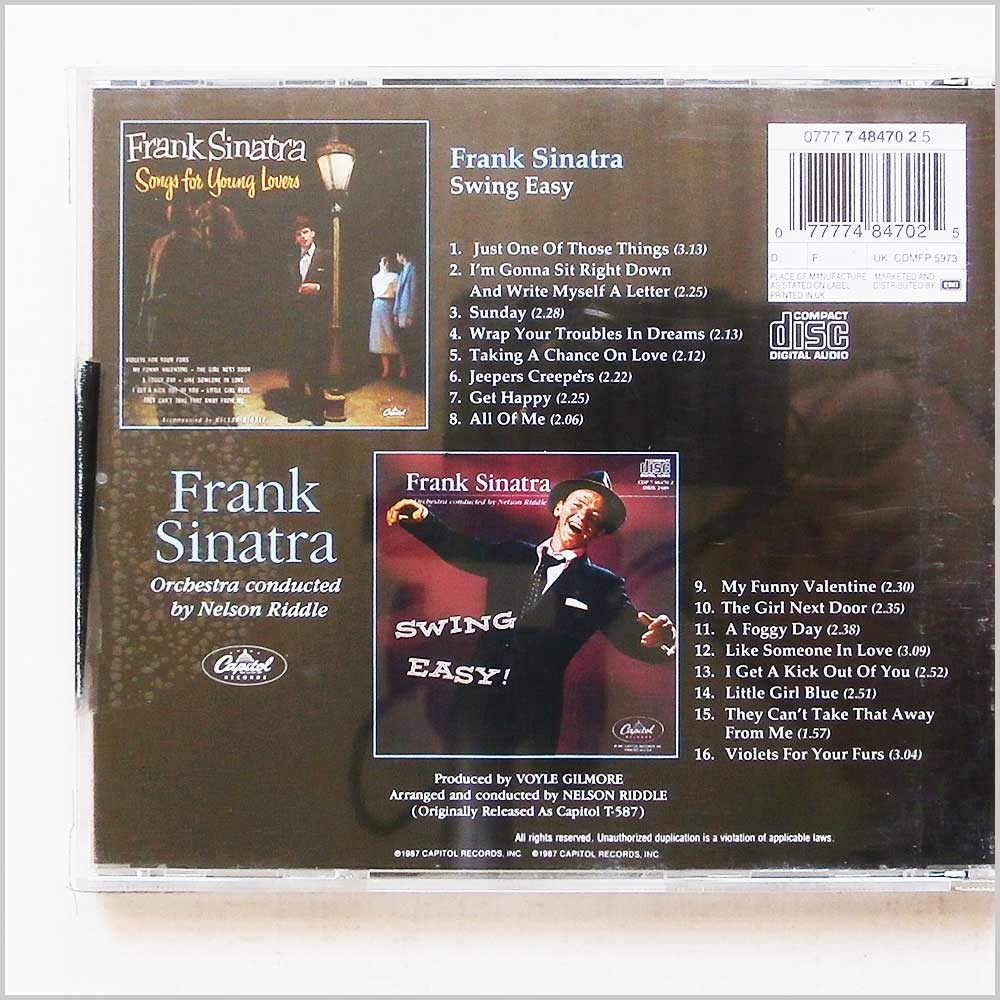 Frank Sinatra - Songs For Young Lovers and Swing Easy (77774847025)
