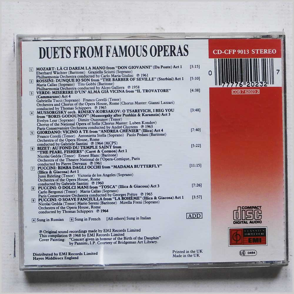 Various - Duets from Famous Operas (77776202327)