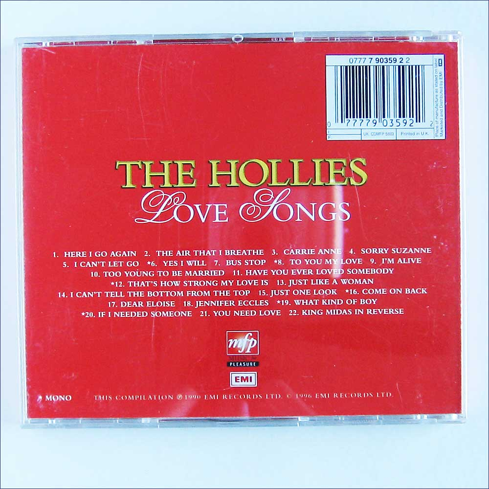 The Hollies - Love Songs (77779035922)