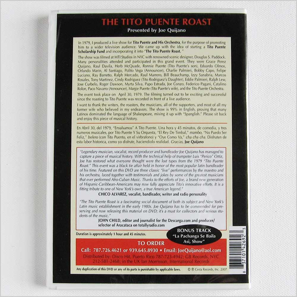 Tito Puente The Tito Puente Roast, Presented by Joe Quijano