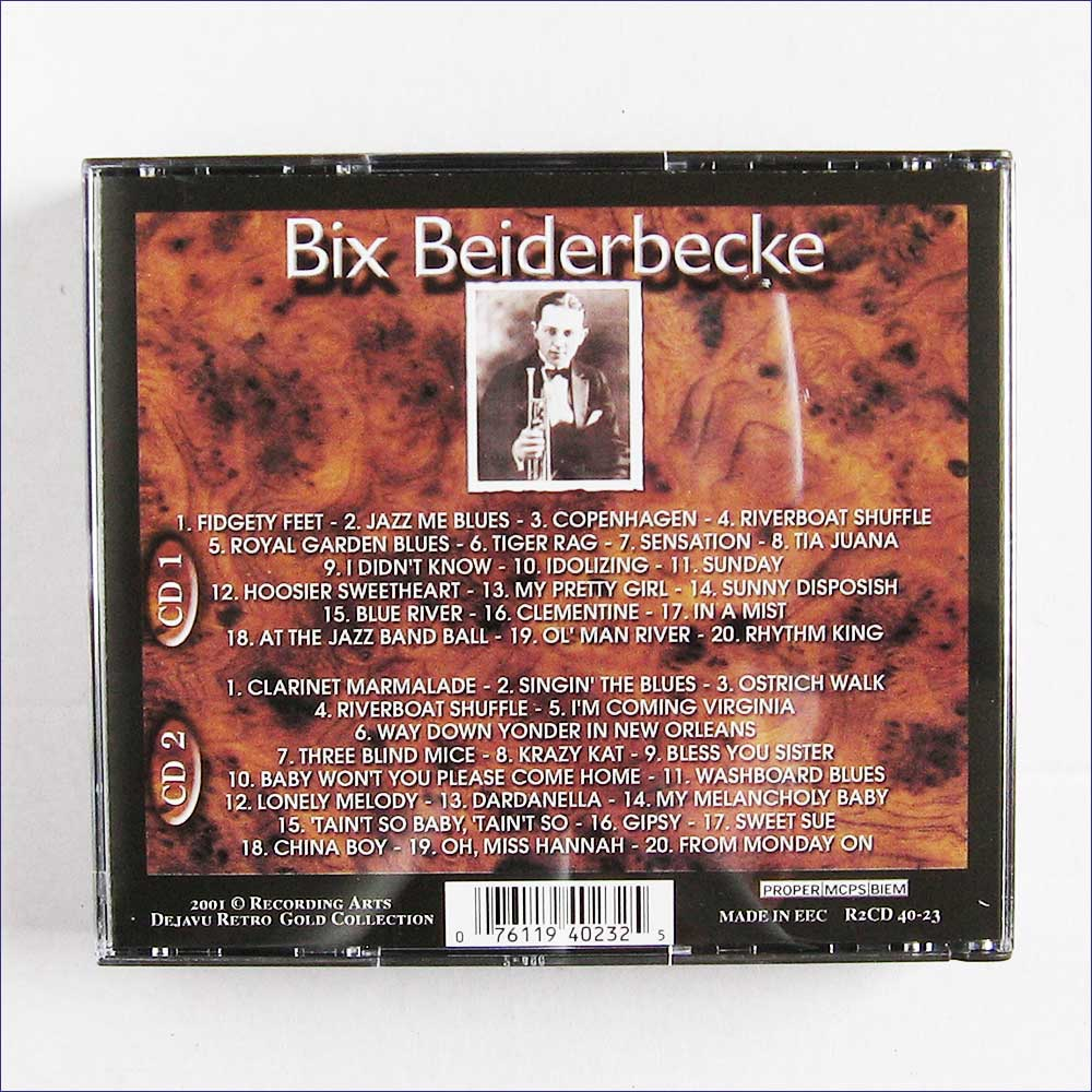 Bix Beiderbecke - Dejavu Retro Gold Collection (R2CD40-23)