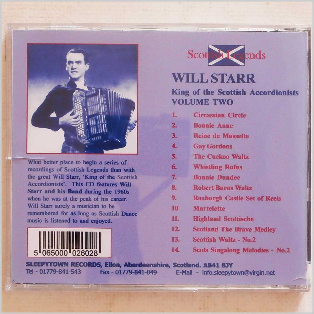 Will Starr and his Band - King of the Scottish Accordionists Volume 2 (SLPYBUD02)