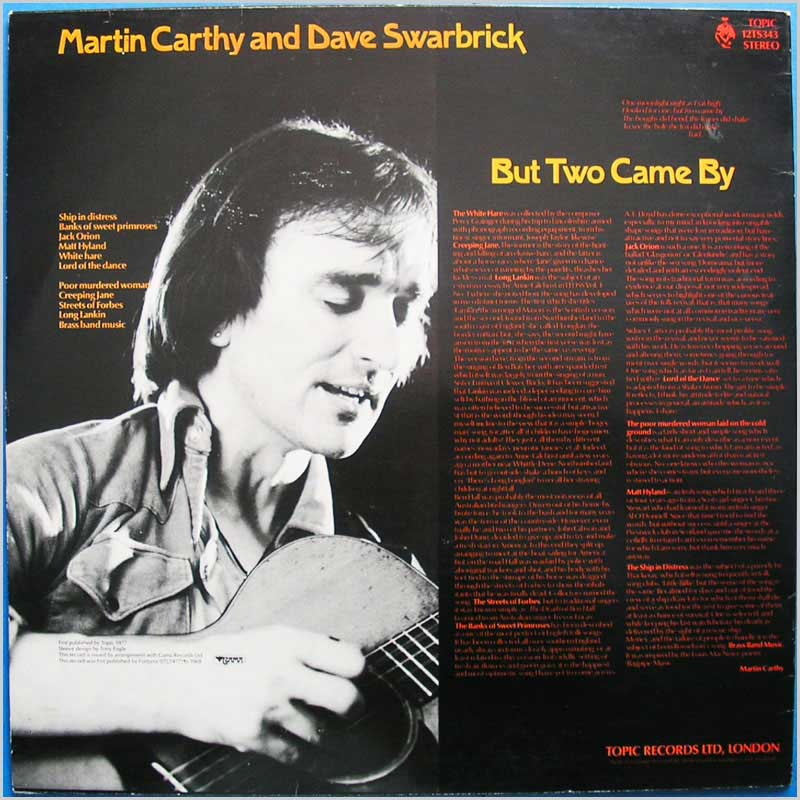 Martin Carthy & Dave Swarbrick - But Two Came By (12TS343)