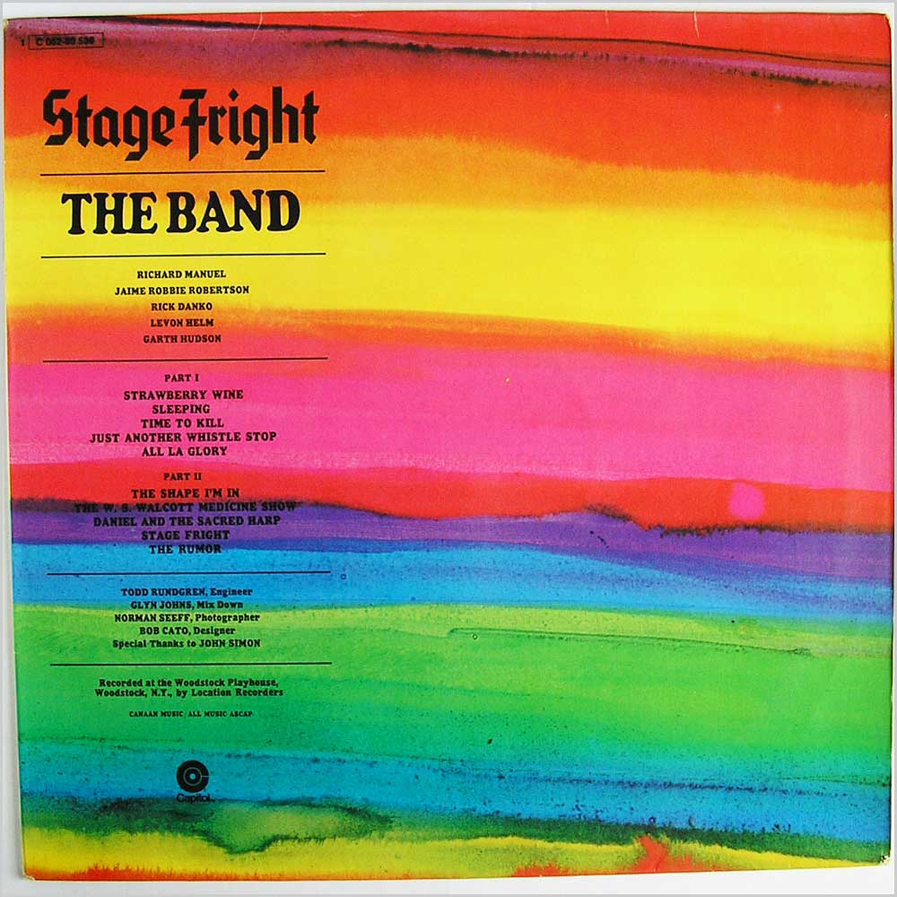The Band - Stage Fright (1 C 062-80 536)
